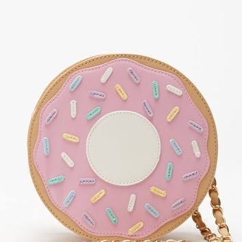 Nila Anthony Patent Donut Circular Crossbody Bag - Womens Handbags - Pink - One