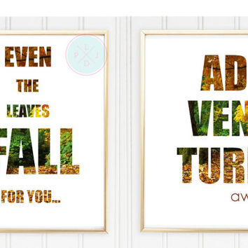 Fall Festival Printable, 8x10 Duo, Instant Download, Adventure Awaits, Funny Quote, Funny Printable, Adventure Prints, Travel Art, Quotes