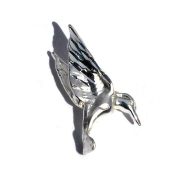 Sterling Silver Hovering Hummingbird Charm Pendant