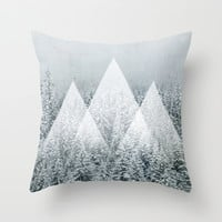Winter Time Throw Pillow by Cafelab