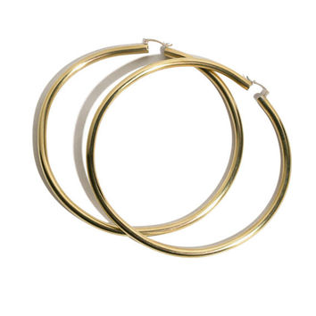 In God We Trust - Brass Rollo Hoops | BONA DRAG