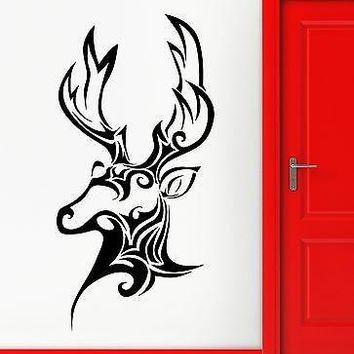 Wall Sticker Vinyl Decal Deer Hunting Trophy Animal Head Patterns Decor Unique Gift (ig2236)