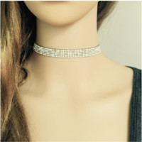 Diamond  Crystal Choker Necklace B0014403