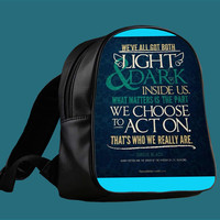 harry potter quote sirius for Backpack / Custom Bag / School Bag / Children Bag / Custom School Bag *