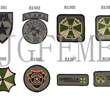 Green Resident Evil Umbrella Military Tactical Morale Embroidery patch