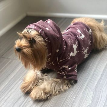 Oh Deer!! Dog Hoodie ** Sweater Knit for Dogs