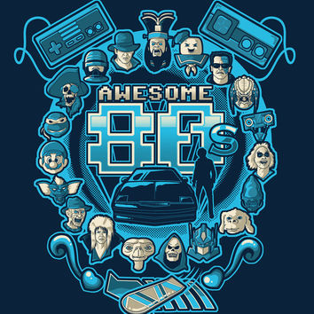 AWESOME 80s Art Print by Letter_q