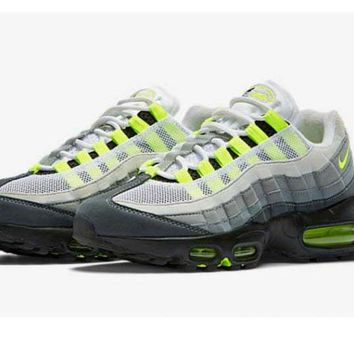 Mens Nike Air Max 95 Black Neon Gray White - Ready Stock Online