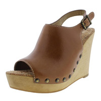 Sam Edelman Womens Camilla Leather Slingback Wedge Sandals