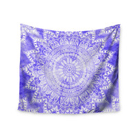 "Nika Martinez ""Boho Flower Mandala in Purple"" Lavender Wall Tapestry"