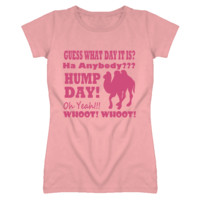 Funny Pink Hump Day Ladies Fitted T Shirt
