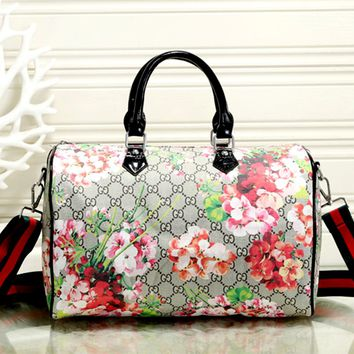 Free shipping-GUCCI wild flower double G printing travel bag
