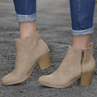Vada Booties, taupe
