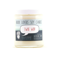 Twue Wuv - Soy Candle - Book Lovers' Scented Soy Candle - 8oz jar