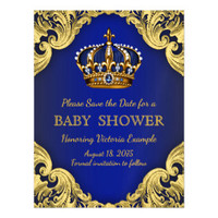 Blue Gold Royal Prince Baby Shower