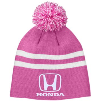 Honda TT122 Team 365 Striped Pom Beanie
