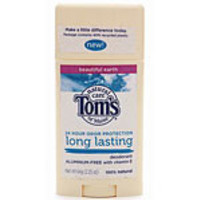 Tom's of Maine Deodorants Beautiful Earth Long Lasting 24 Hour Odor Protection Sticks 2.25 oz.