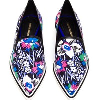 NICHOLAS KIRKWOOD | Floral Silk Pointed Flats | Browns fashion & designer clothes & clothing