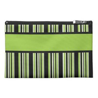 Green Stripes Ready to Personalize Travel Accessories Bags