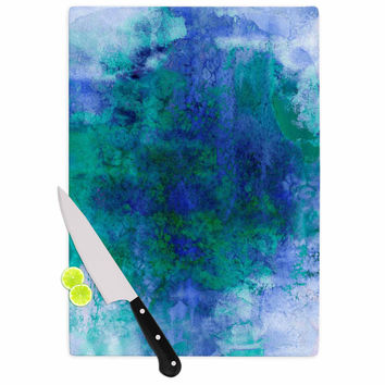 "Ebi Emporium ""Epoch 2"" Blue Teal Cutting Board"