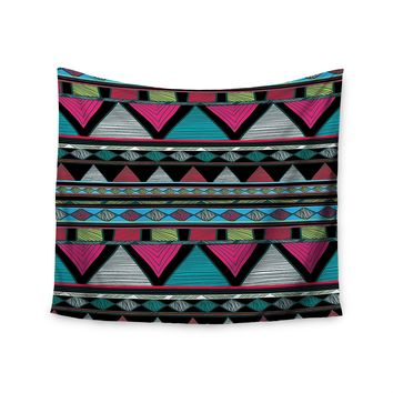 """Pink Tribal"" Colorful Pattern Wall Tapestry"