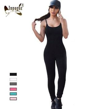 DCCKHY9 2016 Solid Sexy Strap Backless Bodycon Bandage Long Pants Summer Basic Jumpsuit Women Sexy Rompers One Piece Bodysuits For Women