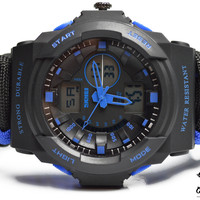 Blue Men's Paracord Dive Watch