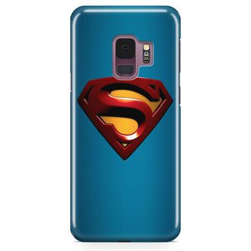 Superman Logo Samsung Galaxy S9 Case | Casefantasy