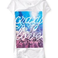 Studded Crazy Love Graphic T - Aeropostale
