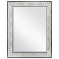 Better Homes & Gardens 23x29 Metallic Boho Embossed Beveled Wall Mirror - Walmart.com