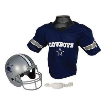 DCCK8X2 Dallas Cowboys Youth NFL Helmet and Jersey Set