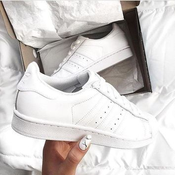 adidas£ºClover White skateboard shoes