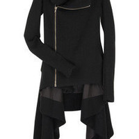 Rick Owens|Wool funnel neck coat|NET-A-PORTER.COM