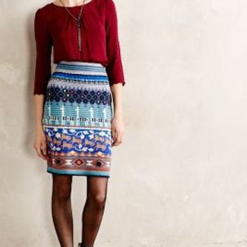 Llama Line Sweater Skirt by Monogram Multi