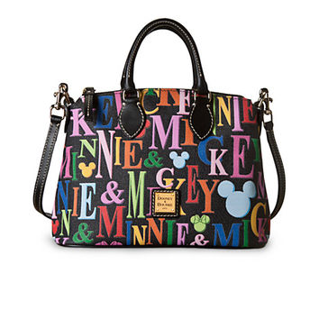 Disney Mickey and Minnie Mouse Rainbow Crossbody Satchel by Dooney & Bourke | Disney Store