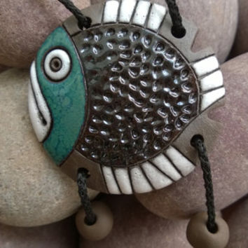Handmade fashion necklace for women,men. Unisex fish necklace. Nautical necklace. Spring gift. Mens necklace.Spring jewerly.Fishing