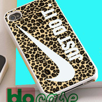 Nike Just Do It On Leopard For Iphone 4/4s, iPhone 5/5s, iPhone 5C, iphone 6, and iPhone 6 Plus Case