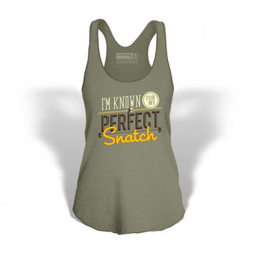 StrongerRx Perfect Snatch Women's Tank Army Green