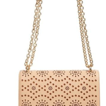 Chelsea28 Dahlia Perforated Faux Leather Shoulder Bag | Nordstrom