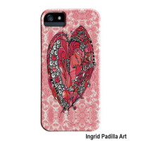 Big Red Heart iPhone Case, iPhone 5 case, iPhone 5C case, iPhone cases, by Ingrid Padilla, iPhone 5S case