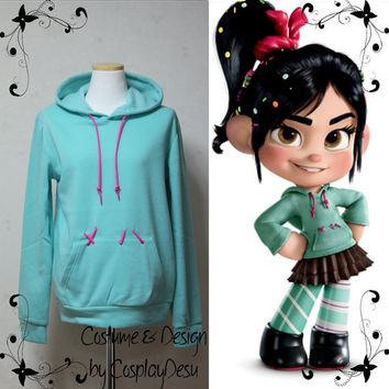 Vanellope Hoodie from Wreck it Ralph by CosplayDesu on Etsy