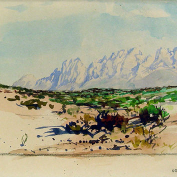 Organ Mountains, New Mexico by Bill Zaner