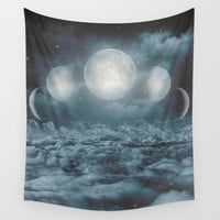 Uncertain. Alone. Cratered By Imperfections. (Loyal Moon) Wall Tapestry by Soaring Anchor Designs