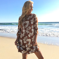 Hawaiian Fall Floral Dress
