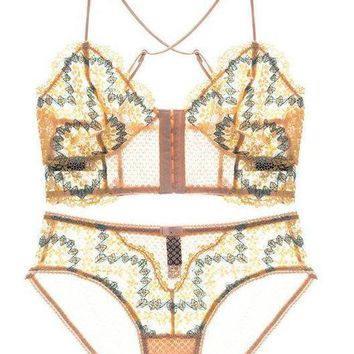Florence Lace Two Piece - Yellow
