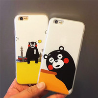 Cute On Sale Stylish Hot Deal Hot Sale Iphone 6/6s Iphone Cartoons Apple Couple Soft Phone Case [6034113025]