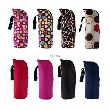Baby Thermal Feeding Bottle Warmers Mummy Tote Bag Hang Stroller Pouch Holder Hanging Cooler Bottle Bag