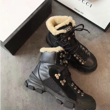 Gucci Black Fur Boot