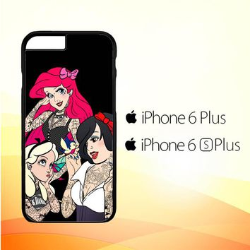 Snow Ariel And Alice Punk Tattoos Disney Princess  Z0207 iPhone 6 Plus|6S Plus Case