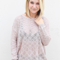 Pretty In Pink Lightweight Sweater